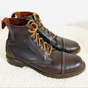 Allen Edmonds Cap Toe Leather WWII Style Lace Boot